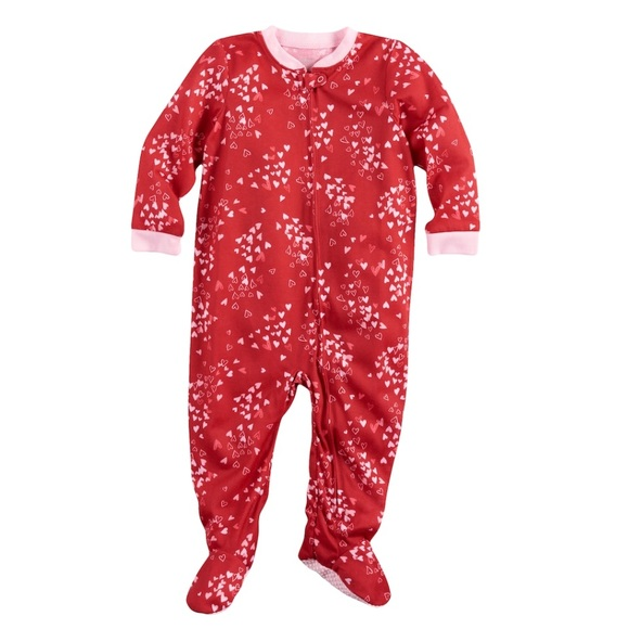 b8071414 Jammies for Your Families Pajamas | Nwt Girls Heart Footie | Poshmark